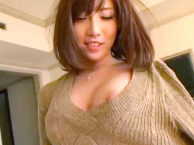 [朱音ゆい]清楚系なのに脱いだら淫乱ビッチ系の激カワ網タイツ美女がホテルで生チンセックス動画